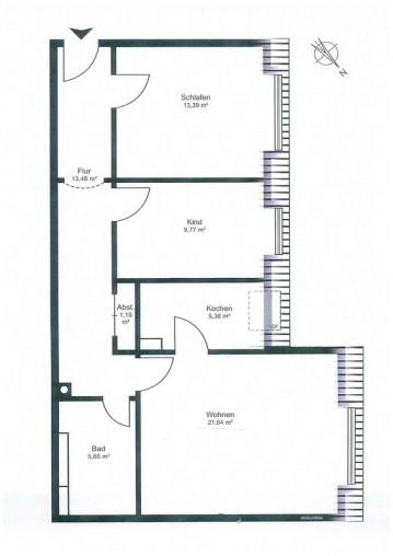 Grundriss einer Wohnung von Animare Immobilien