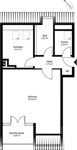 Grundriss 2 Zimmer Wohnung Animare Immbobilien