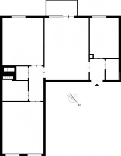Grundriss einer 3-Zimmer-Wohnung in München