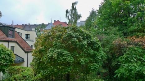 Ausblick von der 2 Zimmer Wohnung in Schwabing in den ruhigen Innenhof